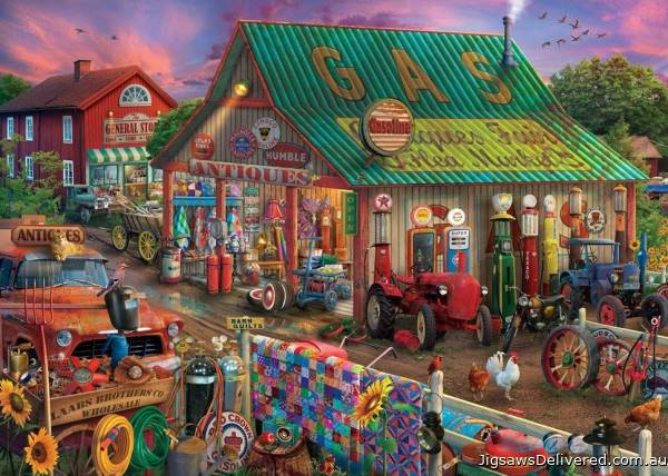 Antique Barn (Large Pieces) (HOL772209), a 500 piece jigsaw puzzle by Holdson.