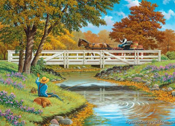 Howdy Neighbour (At One With Nature) (HOL772315), a 1000 piece jigsaw puzzle by Holdson.