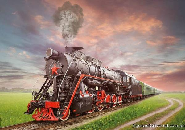 Steam Locomotive (EDU18503), a 2000 piece jigsaw puzzle by Educa.