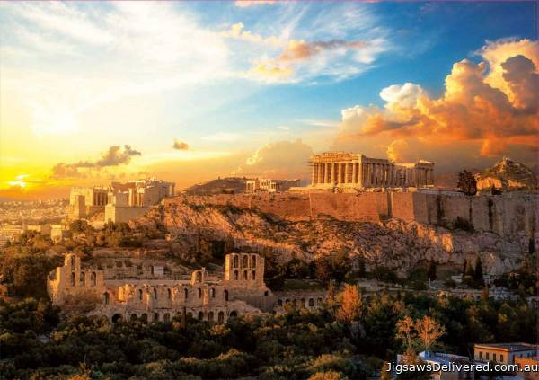 Acropolis of Athens (EDU18489), a 1000 piece jigsaw puzzle by Educa.