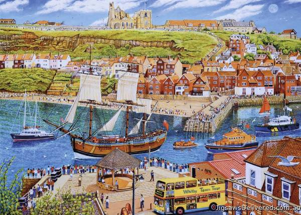 The Endeavour, Whitby (GIB062861), a 1000 piece jigsaw puzzle by Gibsons.