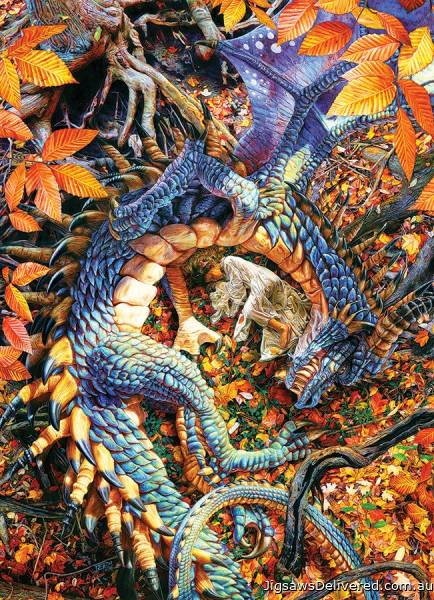 Abby's Dragon (COB80247), a 1000 piece jigsaw puzzle by Cobble Hill.