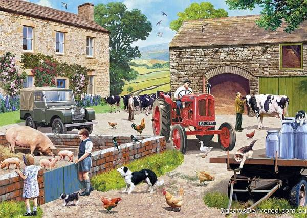 Life on the Farm (GIB063042), a 1000 piece jigsaw puzzle by Gibsons.