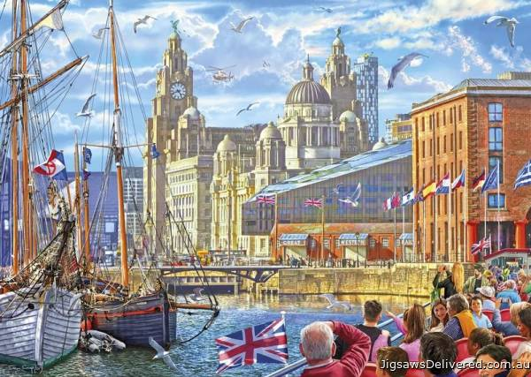 Albert Dock, Liverpool (GIB063984), a 1000 piece jigsaw puzzle by Gibsons.