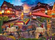 Sunset over the Canal (TIL019515), a 1000 piece jigsaw puzzle by TilburyArtist David Maclean. Click to view this jigsaw puzzle.