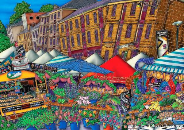 Saturday at Salamanca Market, Hobart (BL02108-C), a 1000 piece jigsaw puzzle by Blue Opal.