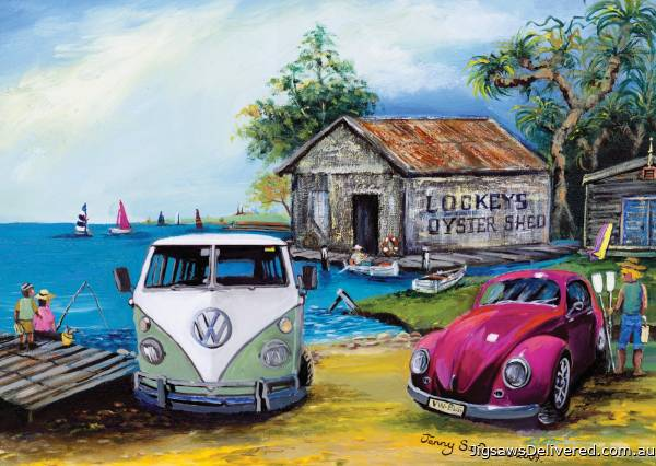 Lockey's Oyster Shed (BL02116-C), a 1000 piece jigsaw puzzle by Blue Opal.
