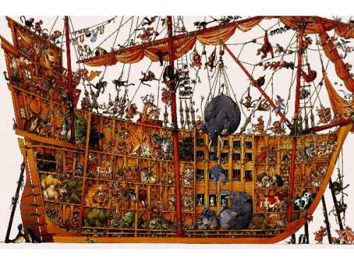 Noah's Ark (HEY25475), a 2000 piece jigsaw puzzle by HEYE. Click to view larger image.