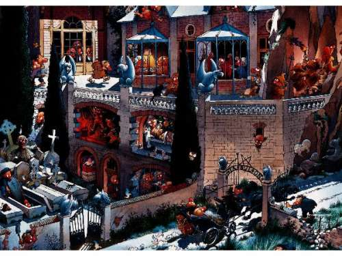 Castle of Horror (HEY26127), a 2000 piece jigsaw puzzle by HEYE. Click to view larger image.