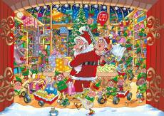 Santa's Unexpected Delivery! (Christmas Wasgij 15) (HOL772902), a 1000 piece Holdson jigsaw puzzle.