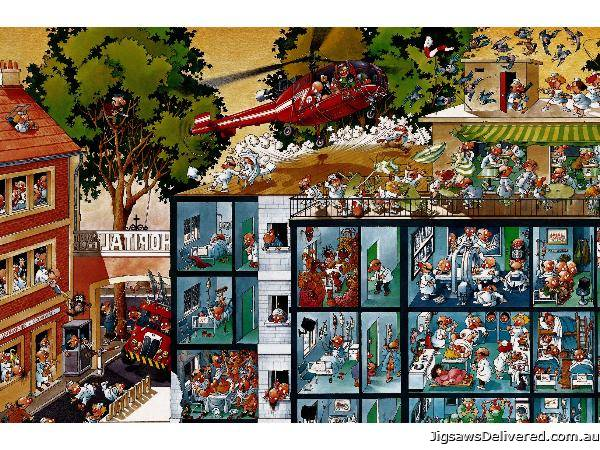 Emergency Room (HEY25784), a 2000 piece jigsaw puzzle by HEYE.