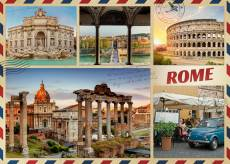 Greetings from Rome (JUM18862), a 1000 piece Jumbo jigsaw puzzle.