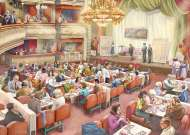 The Bingo Hall (JUM11316), a 1000 piece jigsaw puzzle by Jumbo. Click to view this jigsaw puzzle.