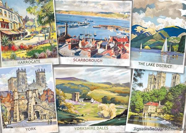 England - The Beautiful North (JUM11303), a 1000 piece jigsaw puzzle by Jumbo.