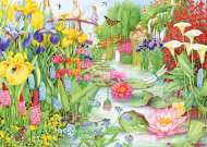 Water Garden Flower Show (JUM11282), a 1000 piece jigsaw puzzle by Jumbo. Click to view this jigsaw puzzle.