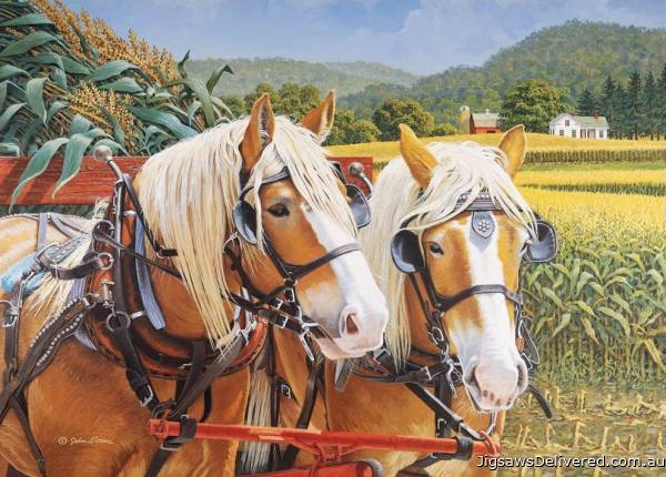 Maggie and Ben (Large Pieces) (HOL772865), a 500 piece jigsaw puzzle by Holdson.