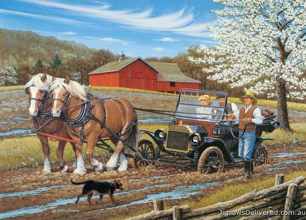 Get A Horse! (Large Pieces) (HOL772858), a 500 piece jigsaw puzzle by Holdson.