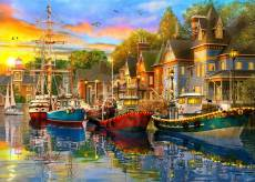 Lights on the Harbour (Safe Harbour) (HOL772735), a 1000 piece Holdson jigsaw puzzle.