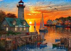 Setting Sail at Sunset (Safe Harbour) (HOL772742), a 1000 piece Holdson jigsaw puzzle.