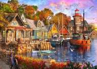 The Harbour Evening (Safe Harbour) (HOL772728), a 1000 piece jigsaw puzzle by HoldsonArtist Dominic Davison. Click to view this jigsaw puzzle.