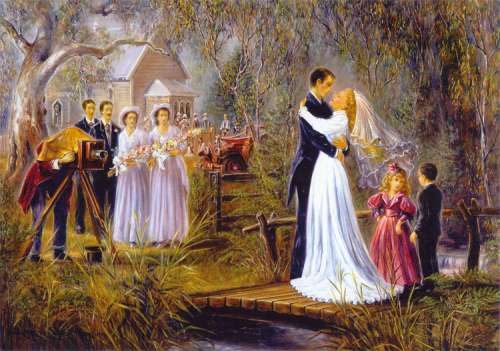 Country Wedding (CAA01460), a 1000 piece jigsaw puzzle by Crown and Andrews. Click to view larger image.