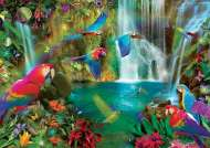 Tropical Parrots (EDU18457), a 1000 piece jigsaw puzzle by Educa. Click to view this jigsaw puzzle.