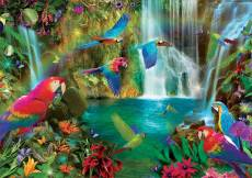 Tropical Parrots. Click to view this product