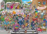 A Piece of Pride! (Original Wasgij 34) (HOL773305), a 1000 piece jigsaw puzzle by HoldsonArtist James Alexander. Click to view this jigsaw puzzle.