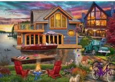 Lake Boathouse (Home Sweet Home) (HOL772698), a 1000 piece Holdson jigsaw puzzle.