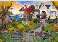 Coastside Home (Home Sweet Home) (HOL772674), a 1000 piece jigsaw puzzle by HoldsonArtist David Maclean. Click to view this jigsaw puzzle.