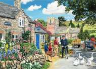 The Police House (The English Village) Large Pieces (HOL773650), a 500 piece jigsaw puzzle by HoldsonArtist Trevor Mitchell. Click to view this jigsaw puzzle.