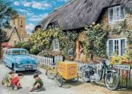 Baker's Delivery (The English Village) Large Pieces (HOL772629), a 500 piece jigsaw puzzle by HoldsonArtist Trevor Mitchell. Click to view this jigsaw puzzle.