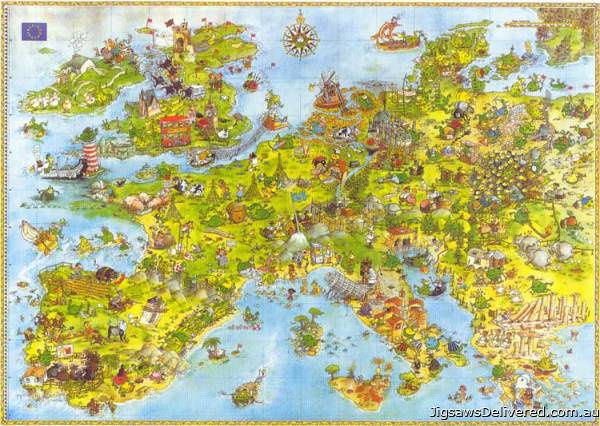 United Dragons of Europe (HEY08854), a 4000 piece jigsaw puzzle by HEYE.