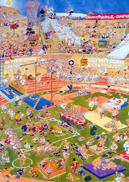 Olympics (JUM01666), a 1000 piece jigsaw puzzle by Jumbo. Click to view larger image.