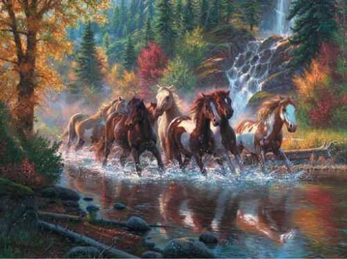 Born to Run (Horses) (1000pc) (SUN52916), a 1000 piece jigsaw puzzle by Sunsout. Click to view larger image.