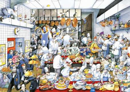 Bon Appetit! (HEY29130), a 1500 piece jigsaw puzzle by HEYE. Click to view larger image.