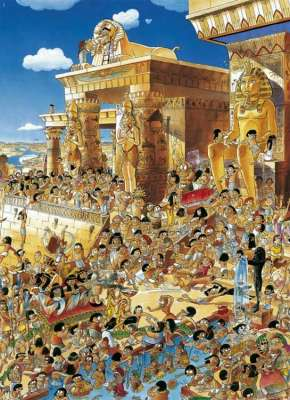 Egypt (HEY26008), a 1000 piece jigsaw puzzle by HEYE. Click to view larger image.
