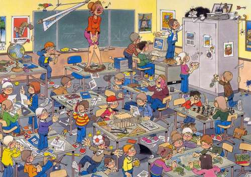 Find The Mouse (JUM17280), a 500 piece jigsaw puzzle by Jumbo. Click to view larger image.