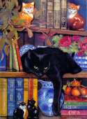 On The Shelf (Cat) (SUNCL59367), a 1000 piece Sunsout jigsaw puzzle.