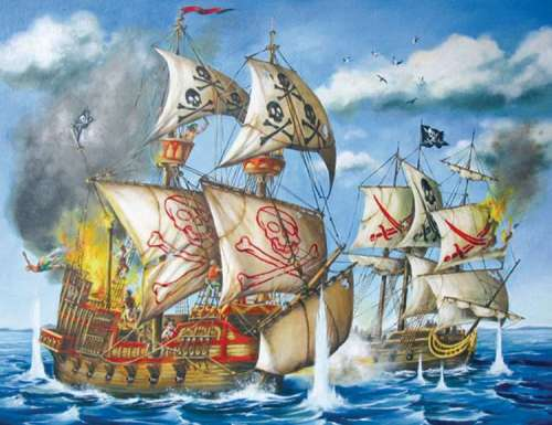 Pirates (RB12771-9), a 200 piece jigsaw puzzle by Ravensburger. Click to view larger image.