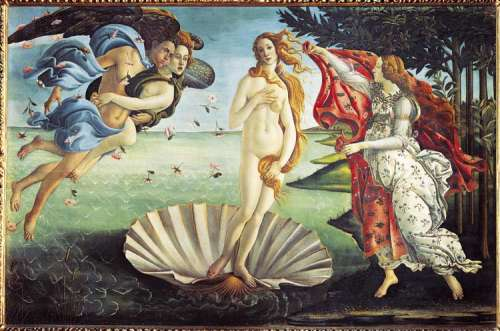 The Birth of Venus (1000pc) (CLE 31430), a 1000 piece jigsaw puzzle by Clementoni. Click to view larger image.