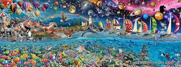 Life, The Greatest Puzzle (EDU13434), a 24000 piece jigsaw puzzle by Educa.