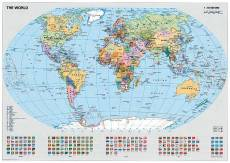 Political World Map (RB15652-8), a 1000 piece Ravensburger jigsaw puzzle.