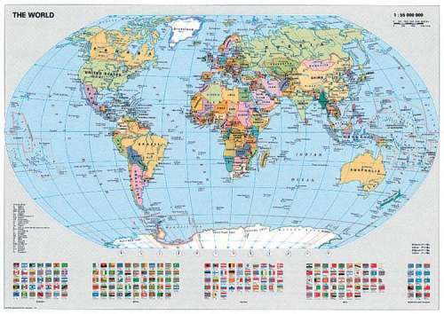 Political World Map (RB15652-8), a 1000 piece jigsaw puzzle by Ravensburger. Click to view larger image.