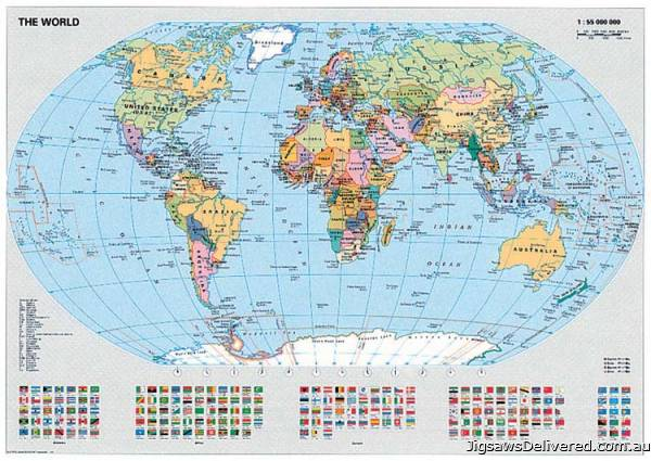 Political World Map (RB15652-8), a 1000 piece jigsaw puzzle by Ravensburger.
