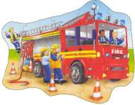 Big Fire Engine (Shaped Giant Floor Puzzle) (OC258), a 20 piece Orchard Toys jigsaw puzzle.