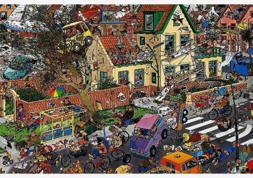 The Storm (JUM01498), a 1500 piece jigsaw puzzle by Jumbo. Click to view larger image.