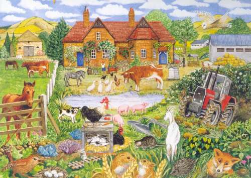 Alphabet Farm (Large Pieces) (CAA08664), a 500 piece jigsaw puzzle by Crown and Andrews. Click to view larger image.
