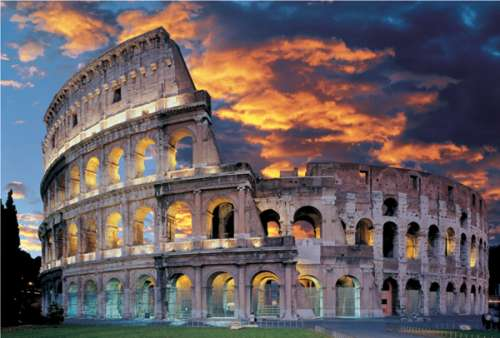 The Collosseum, Rome, Italy (TRE26068), a 1500 piece jigsaw puzzle by Trefl. Click to view larger image.
