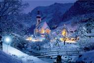 Ramsau, Bavarian Alps, Germany (TRE26073), a 1500 piece jigsaw puzzle by Trefl and artist W. R. Stone. Click to view this jigsaw puzzle.